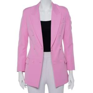 Stella McCartney Pink  Wool Double Breasted Blazer S