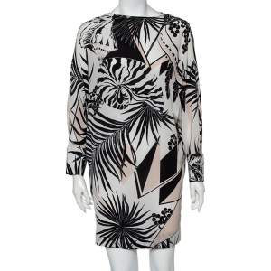 فستان ميني ستيلا مكارتني نمط واسع ظهر مفتوح مونوكرومي مقاس صغير - سمول