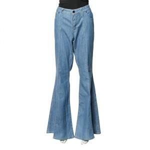 بنطلون جينز ستيلا مكارتني أرجل واسعة دينم أزرق مقاس كبير - لارج