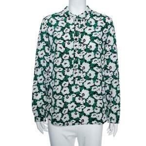 Stella McCartney Multicolored Floral Printed Wilson Silk Long Sleeve Blouse M