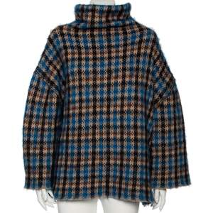 Stella McCartney Multicolor Patterned Wool And Mohair Oversized Sweater S
