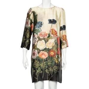 Stella McCartney Multicolor Garden Printed Silk Shift Dress M