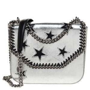 Stella McCartney Silver Faux Leather Falabella Star Box Bag