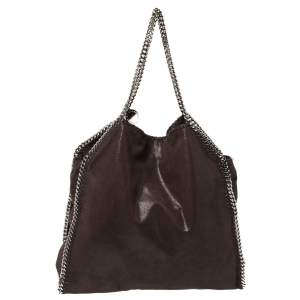 Stella McCartney Brown Faux Leather Large Falabella Tote