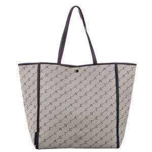 Stella McCartney Brown/Beige Canvas East West Logo Tote Bag
