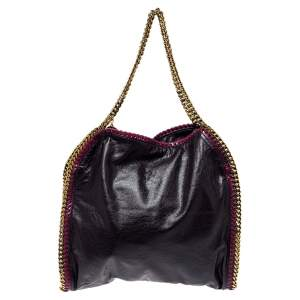 Stella McCartney Plum/Pink Faux Leather Small Falabella Tote