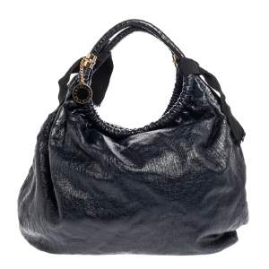 Stella McCartney  Navy Blue Faux Leather Polly Hobo