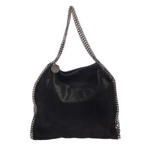 Stella McCartney Black Faux Leather Falabella Tote