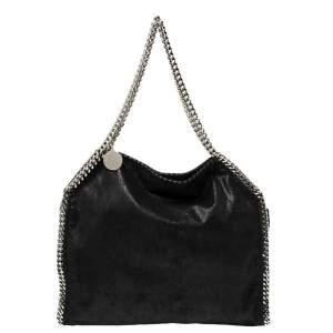 Stella McCartney Black Faux Leather Small Falabella Tote