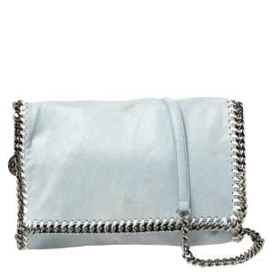 Stella McCartney Sky Blue Faux Leather Falabella Shoulder Bag