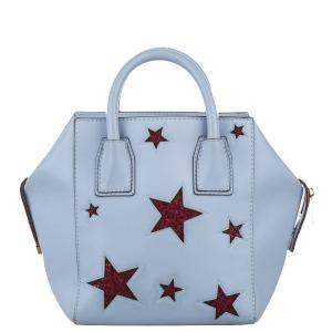 Stella McCartney Blue Leather Cavendish Stars Boston Bag