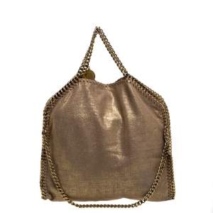 Stella McCartney Beige Shimmering Faux Leather Small Falabella Tote