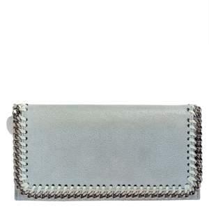 Stella McCartney Blue Faux Leather Falabella Wallet