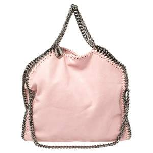 Stella McCartney Light Pink Faux Leather Small Falabella Tote