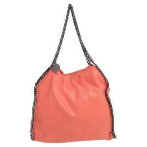 حقيبة يد ستيلا ماكرتني فالابيلا صغيرة سويدي صناعي برتقالي محمر
