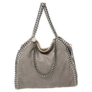 Stella McCartney Grey Faux Leather Mini Falabella Tote