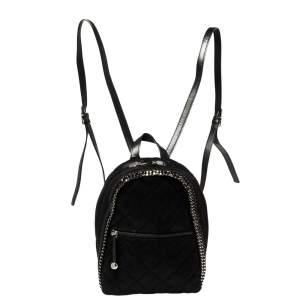 Stella McCartney Black Faux Leather Falabella Backpack