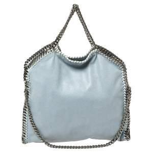 Stella McCartney Sky Blue Faux Leather Small Falabella Tote