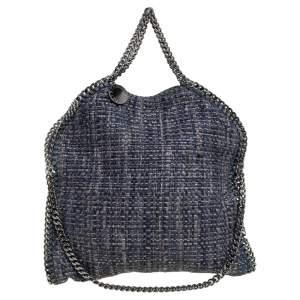 Stella McCartney Blue/Grey Tweed Small Falabella Tote