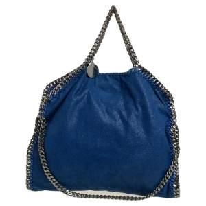 Stella McCartney Blue Faux Leather Small Falabella Tote