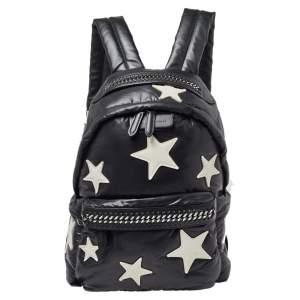 Stella McCartney Black Nylon Falabella Go Stars Backpack