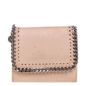 Stella McCartney Peach Faux Leather Falabella Trifold Wallet