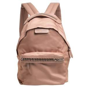 Stella McCartney Beige Nylon and Faux Leather Falabella Backpack