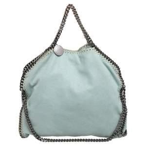 Stella McCartney Mint Green Faux Leather Small Falabella Tote