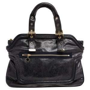 Stella McCartney Black Faux Leather Satchel