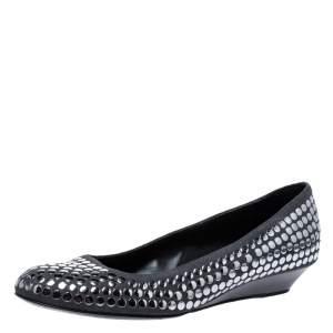 Stella McCartney Grey Faux Suede Studded Ballet Flats Size 36