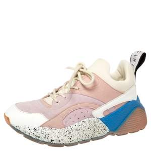 Stella McCartney Multicolor Leather, Suede and Fabric Eclypse Low Top Sneakers Size 38