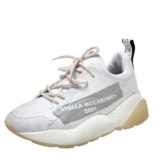 Stella McCartney White Fabric Eclypse Low Top Sneakers Size 40