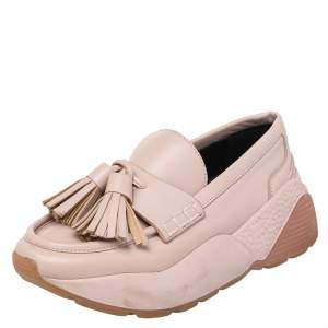 Stella McCartney Pink Faux Leather Loafer Sneaker Size 36