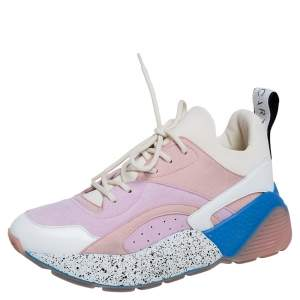 Stella McCartney Multicolor Faux Leather, Faux Suede and Fabric Eclypse Low Top Sneakers Size 38