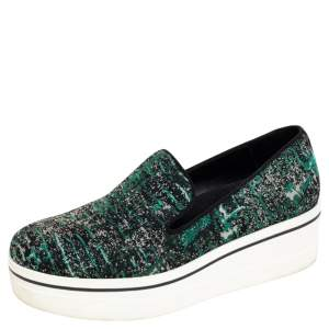 Stella McCartney Black Fabric Binx Slip on Sneakers Size 40