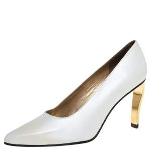 Stuart Weitzman White Leather Vintage Bella Pumps Size 38