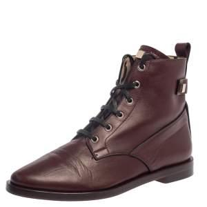 حذاء بوت كاحل ستيوارت وايتزمان ريدر جلد عنابى مقاس 38.5