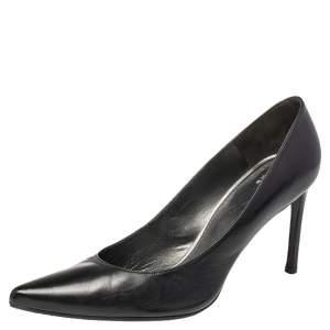 Stuart Weitzman Black  Leather Pointed Toe Pumps Size 43.5