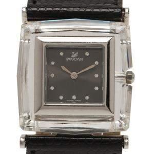 Swarovski Grey Stainless Steel Rock N Light Women's Wristwatch 30MM