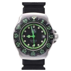 ساعة يد نسائية تاغ هيور ستانلس ستيل بروفيشتال 200M WA1415 ستانلس ستيل خضراء/سوداء 27مم