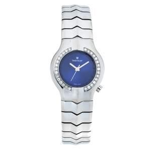 """ساعة يد نسائية تاغ هيوير """"ألتير إيجو دبليو پي1316"""" ستانلس ستيل و ألماس زرقاء 29 مم"""