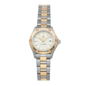 Tag Heuer Silver 18K Rose Gold And Stainless Steel Aquaracer WAP1450.BD0837 Women's Wristwatch 27 MM