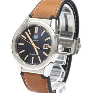 TAG Heuer Black Stainless Steel Carrera Quartz WBG1311 Women's Wristwatch 36 MM
