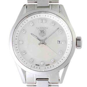 Tag Heuer MOP Diamonds Stainless Steel Carrera WV1411 Women's Wristwatch 27 MM
