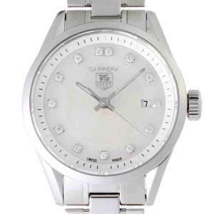 Tag Heuer MOP Diamonds Stainless Steel Carrera WV1411 Women's Wristwatch 27 MM