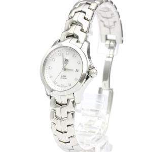 Tag Heuer MOP Diamonds Stainless Steel Link Quartz WJF1317 Quartz Women's Wristwatch 27 MM