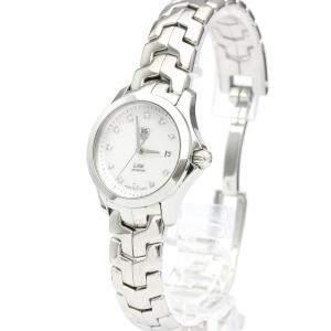 Tag Heuer MOP Diamonds Stainless Steel Link Quartz WJF1317 Quartz Women's Wristwatch 27 MM