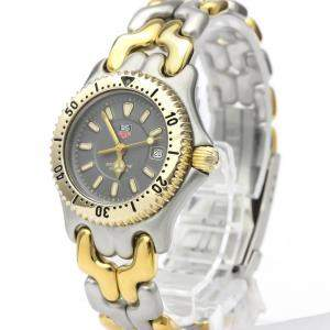 Tag Heuer Grey Gold Plated Stainless Steel Sel 200M WG1320 Women's Wristwatch 27 MM