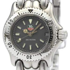 Tag Heuer Grey Stainless Steel Professional S99.208 Women's Wristwatch 24 MM