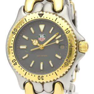 Tag Heuer Gray Gold Plated Stainless Steel Sel Professional 200M S95.213 Women's Wristwatch 34 MM